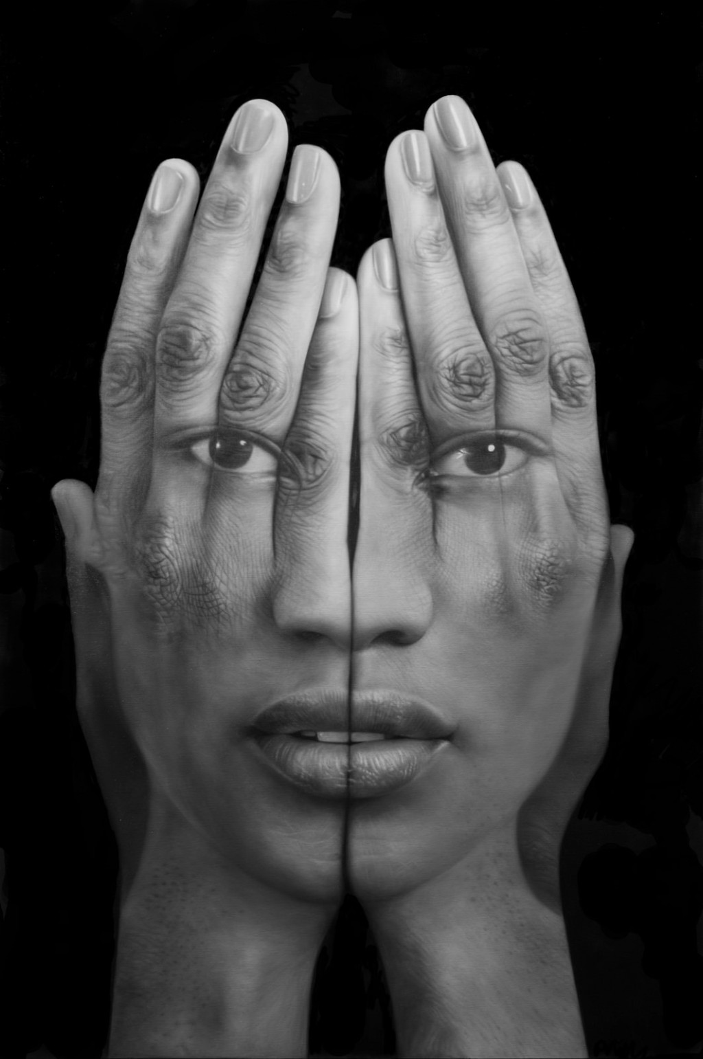 Tigran Tsitoghdzyan-Oil-Paintings-Black Mirror