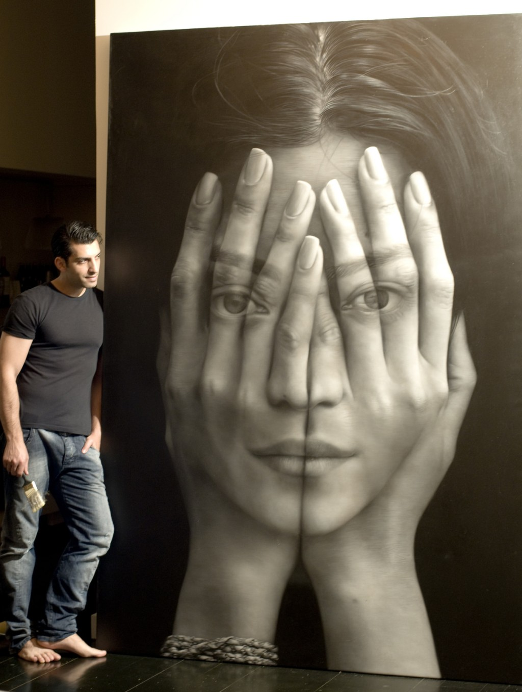 Tigran Tsitoghdzyan-Oil-Paintings-Mirror-Artist