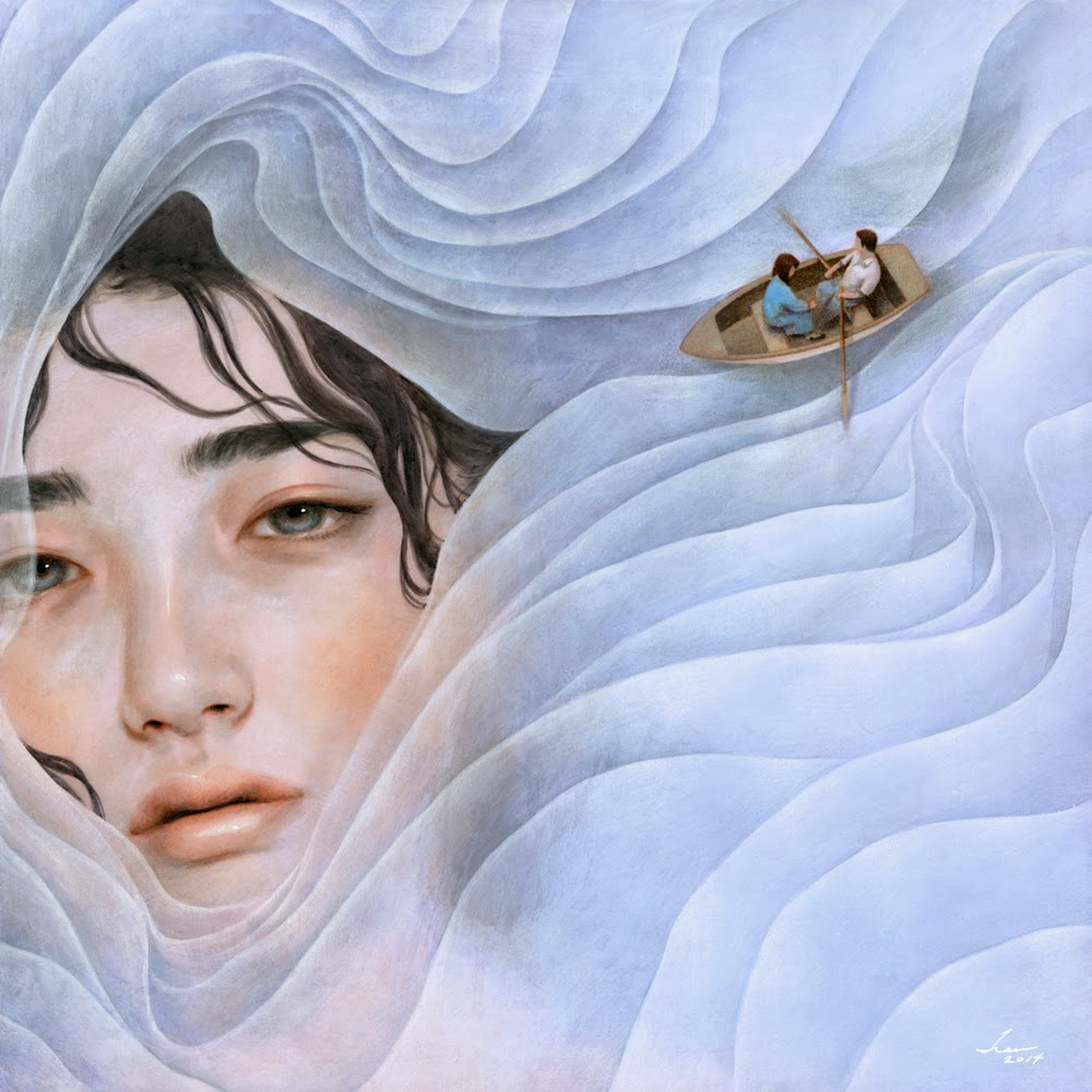 Tran Nguyen Paintings-the_lilac_lady