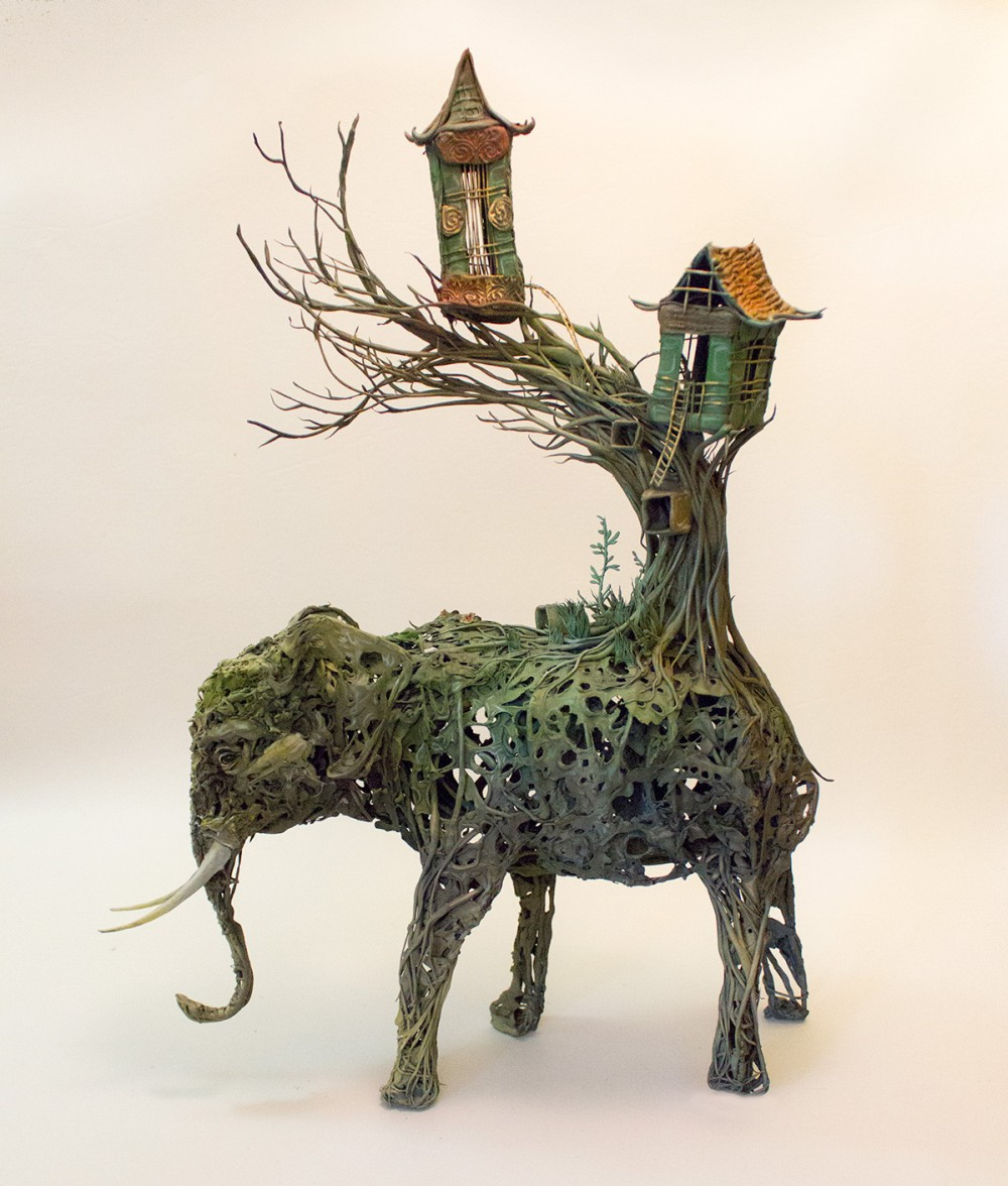 Ellen Jewett animal plant sculpture 7496