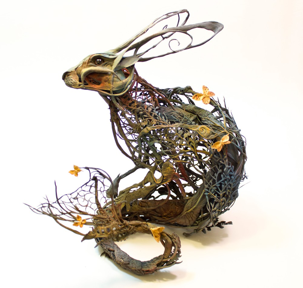 Ellen Jewett animal plant sculpture 772