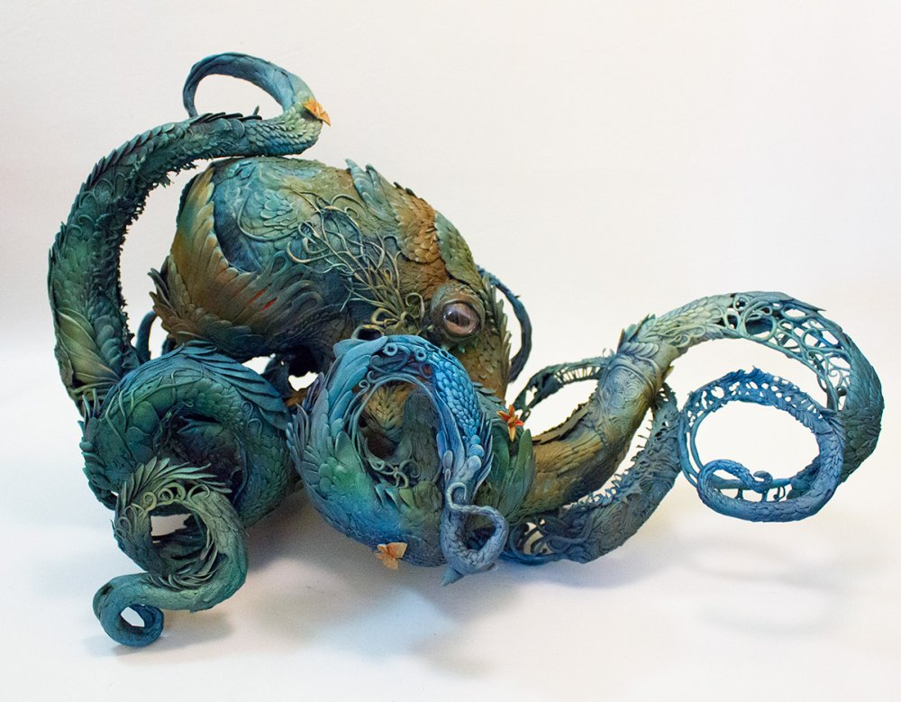 Ellen Jewett animal plant sculpture 7777