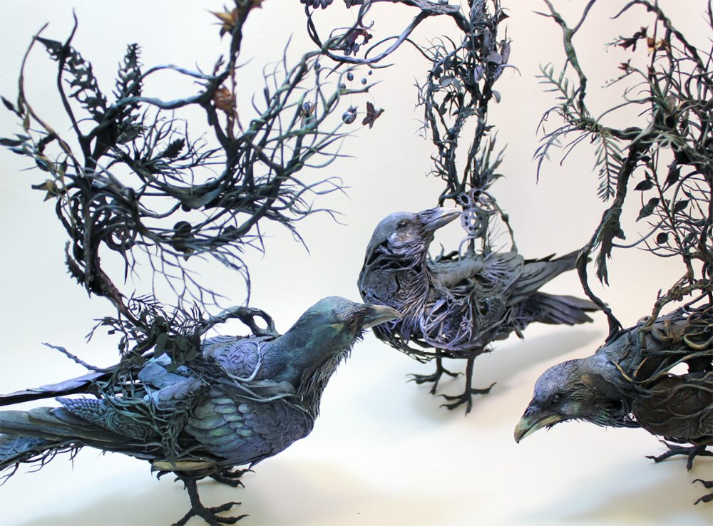 Ellen Jewett animal plant sculpture 7964