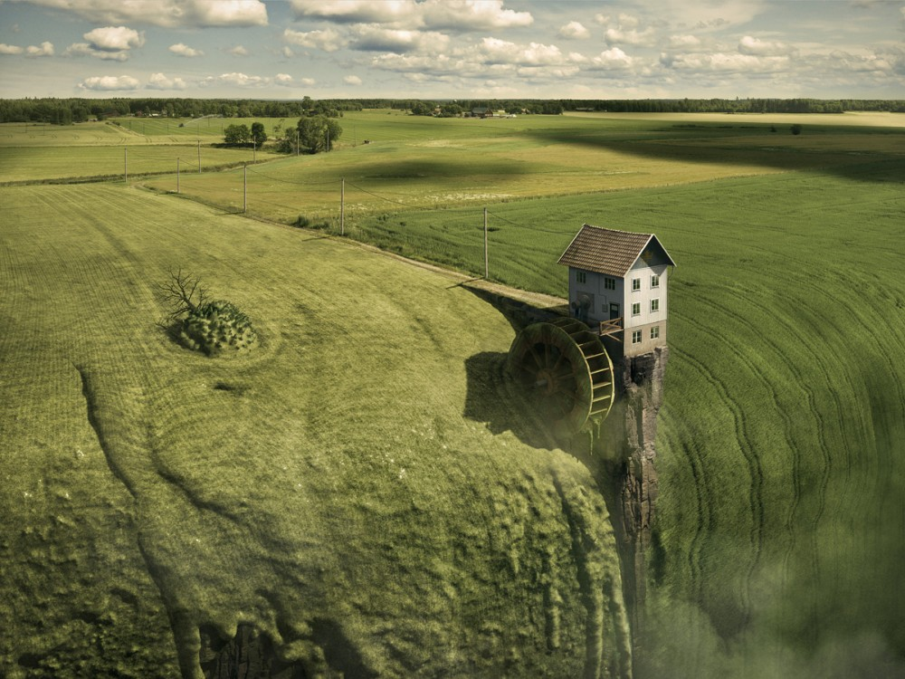 Erik Johansson surreal photo Greenfall