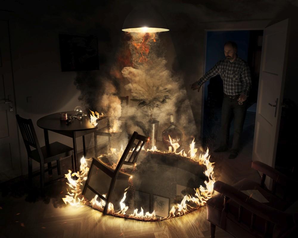Erik Johansson surreal photo cutting-light