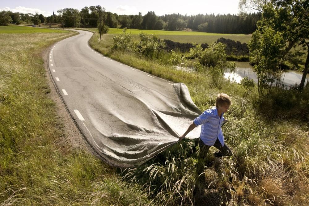 Erik Johansson surreal photo go-your-own-road