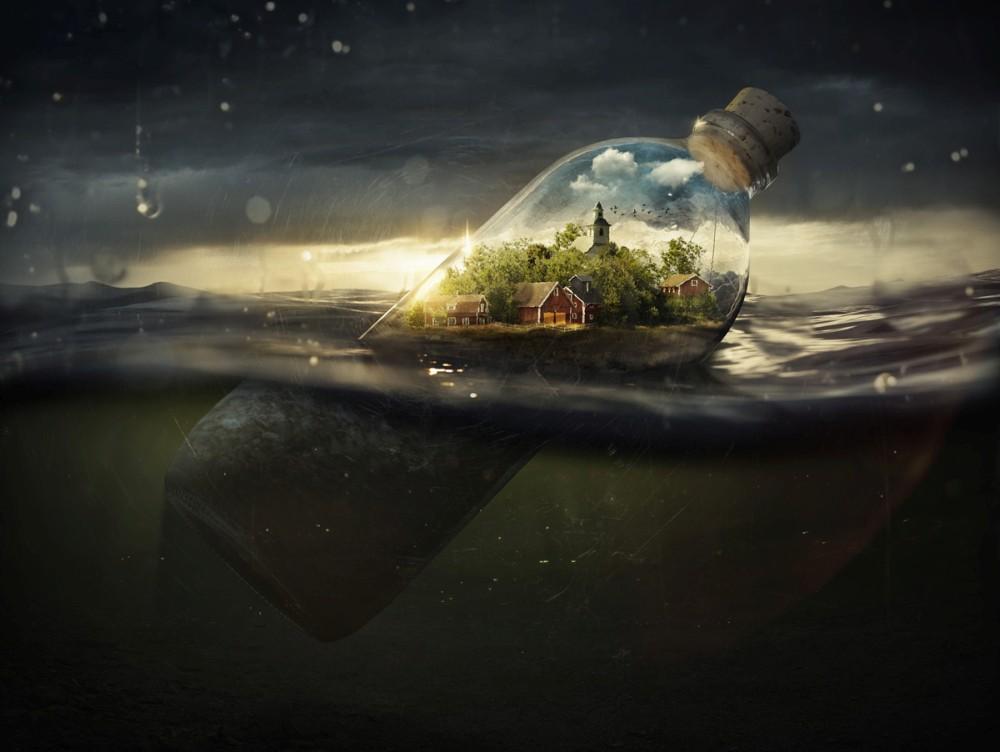 Erik Johansson surreal photography drifting-away