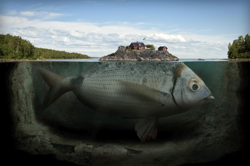 Erik Johansson surreal photography fishy-island