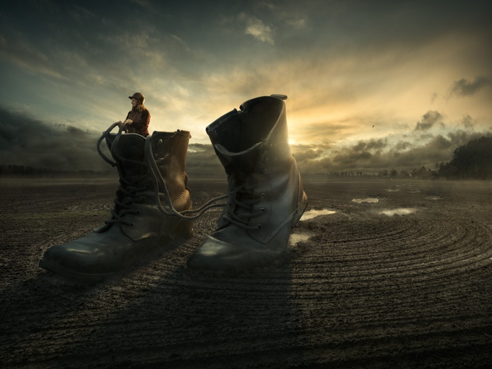 Erik Johansson surreal photography walk-a-way