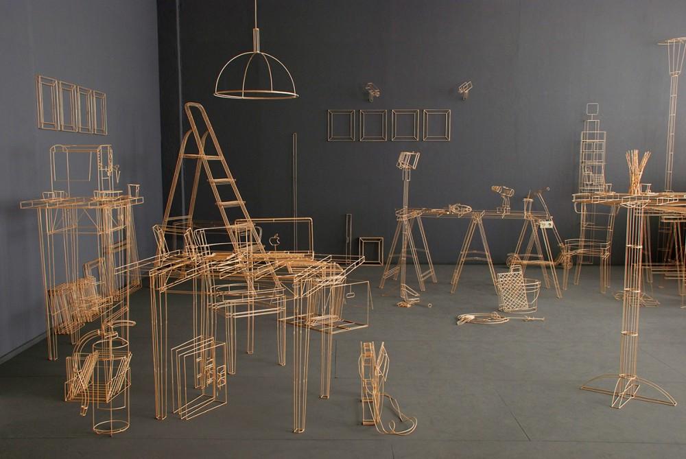 Janusz Grünspek Drawings Wood Sculptures Space 1963