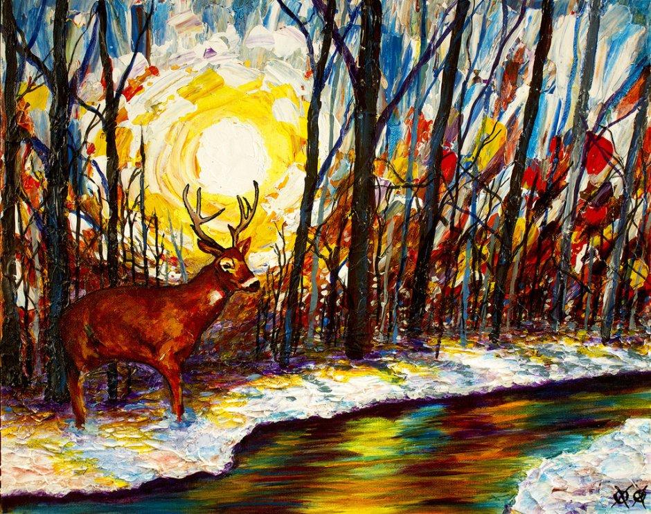 John Bramblitt-Paintings-WinterWoods