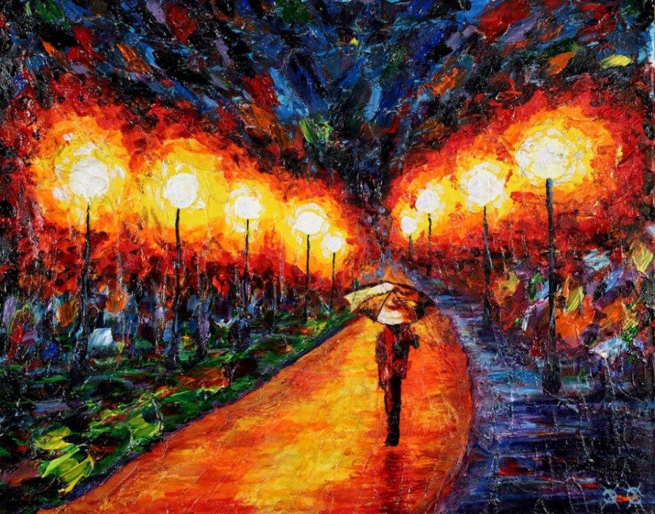 John Bramblitt-blind-artist-Paintings-Eveningstroll