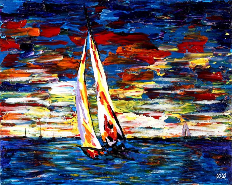 John Bramblitt-blind-artist-Paintings-Sailing