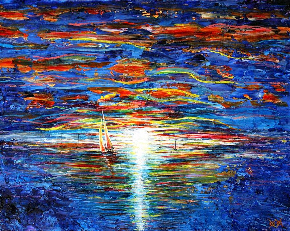 John Bramblitt-blind-artist-Paintings-Seascape