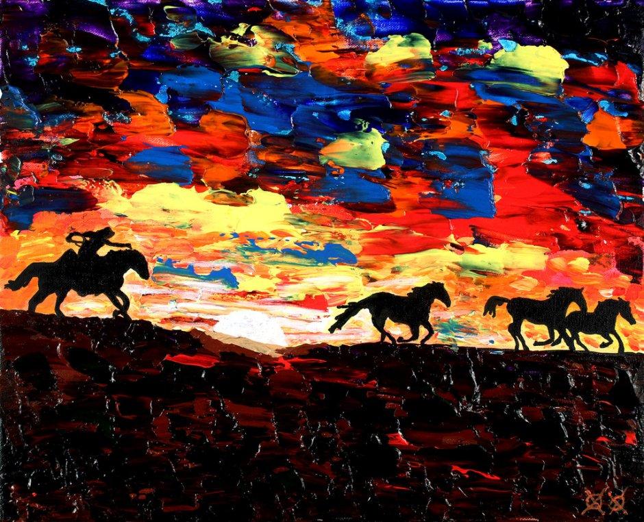 John Bramblitt-blind-artist-Paintings-WildRun