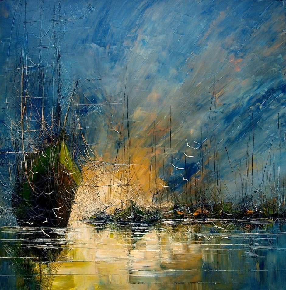 Justyna Kopania's Paintings Of Seascapes And Sailing Ships