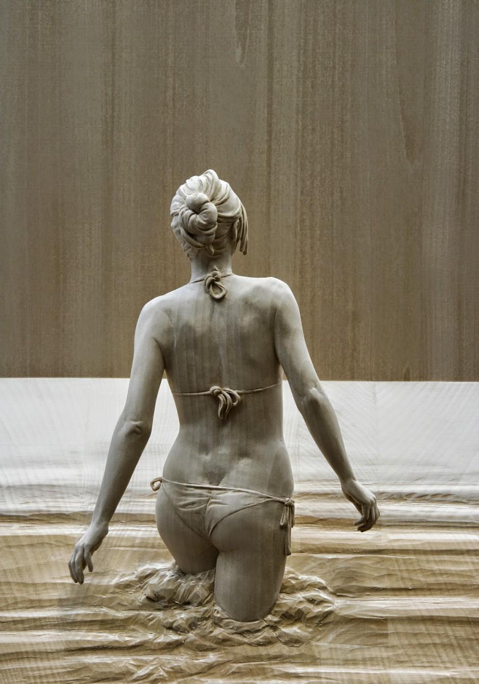 Peter Demetz Human Wood Sculpture 2563