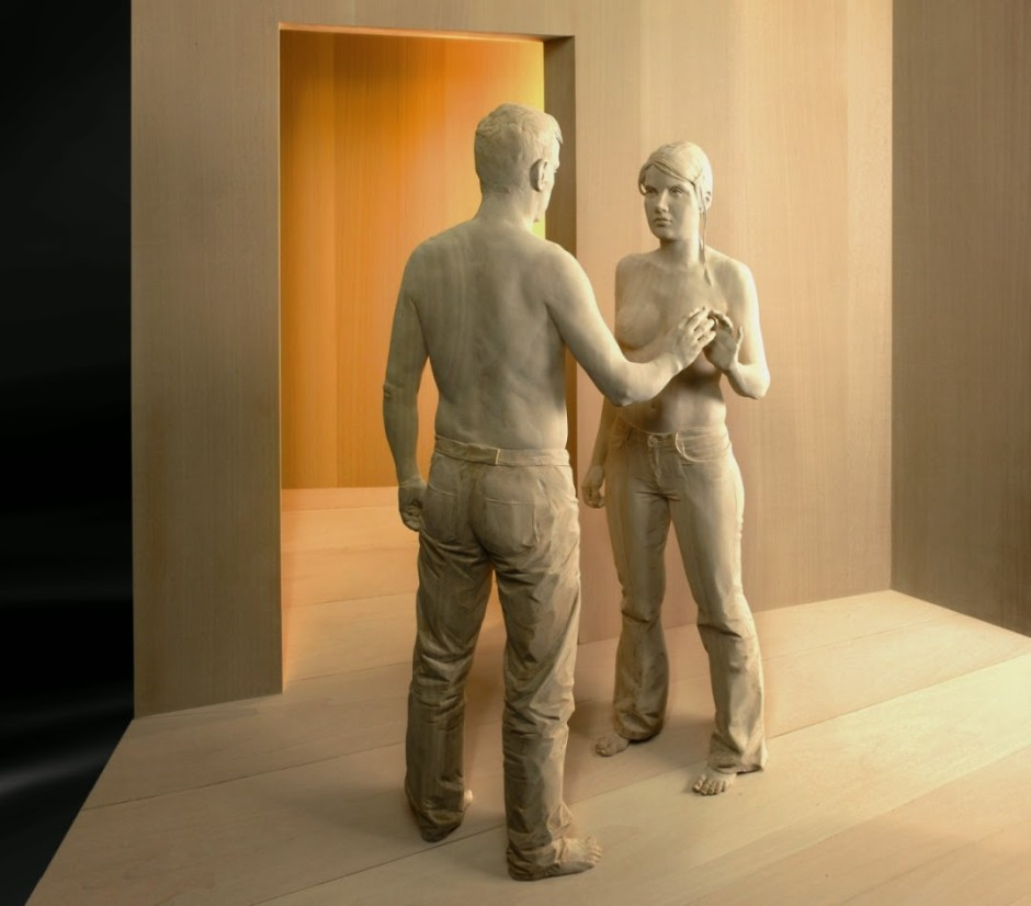 Peter Demetz Human Wood Sculpture 4297