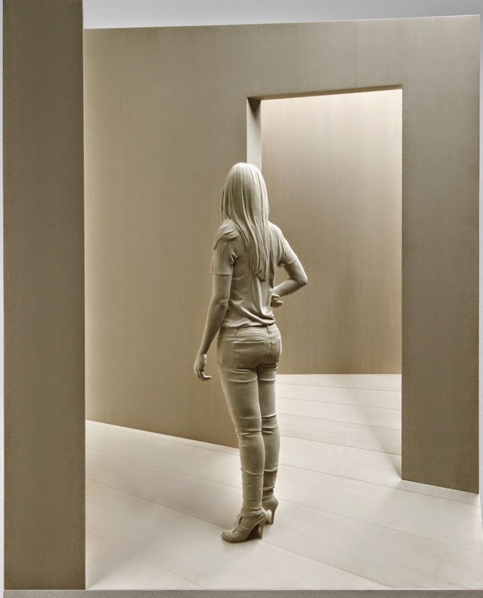 Peter Demetz Human Wood Sculpture 4387