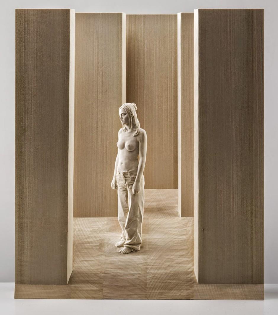 Peter Demetz Human Wood Sculpture 47421