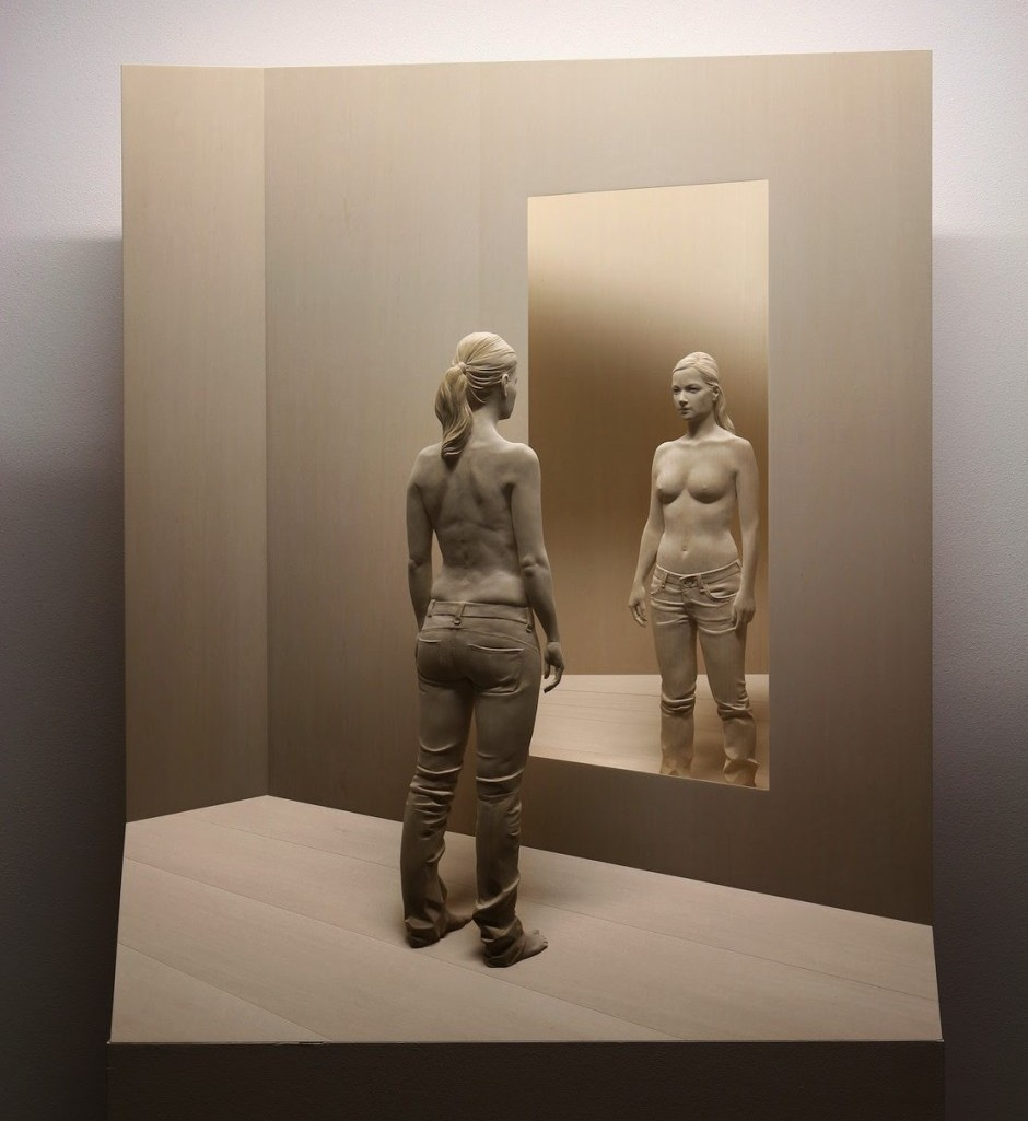 Peter Demetz Human Wood Sculpture 71977