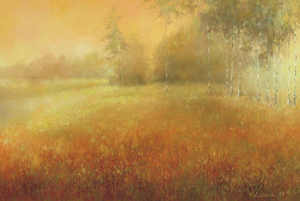 Krzysztof Łozowski-Paintings-Landscape_at_Dawn