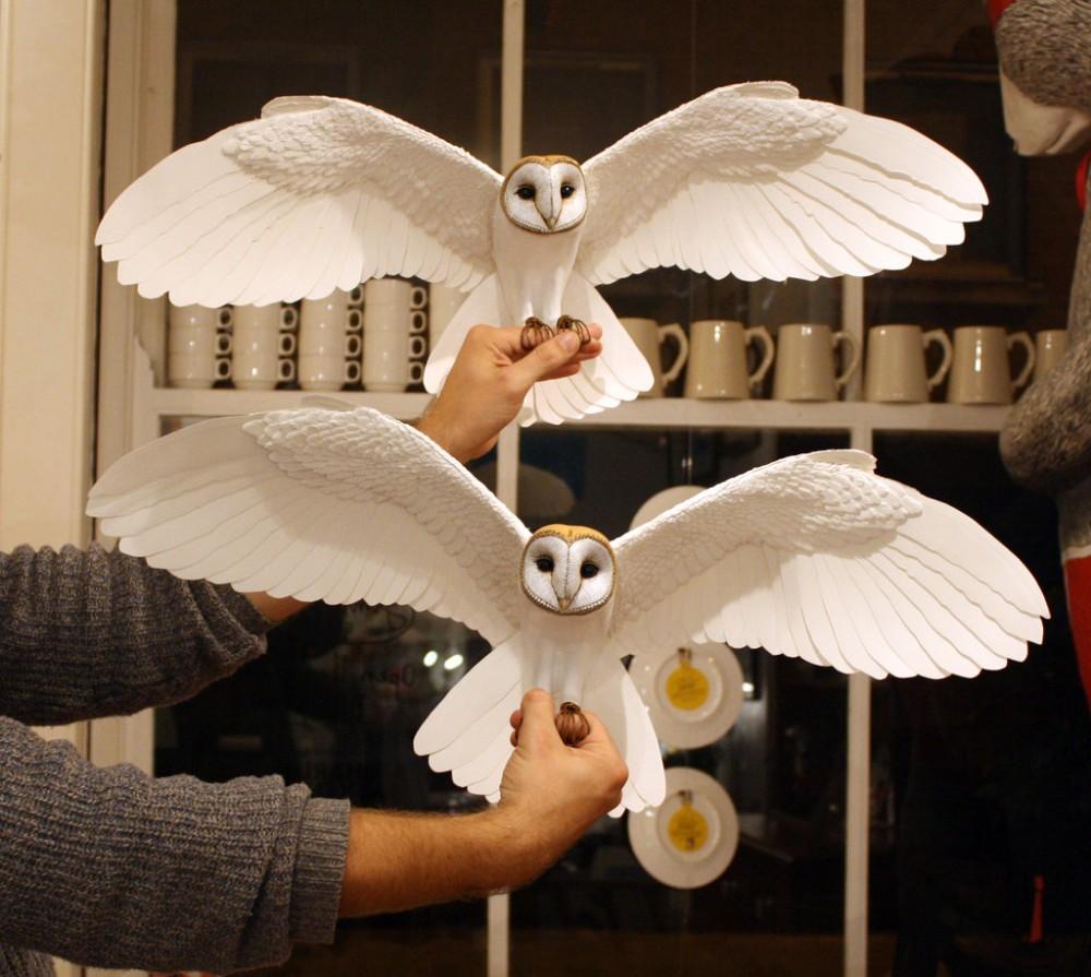 Zack Mclaughlin Sculpture Wood Paper Bird 7315-45