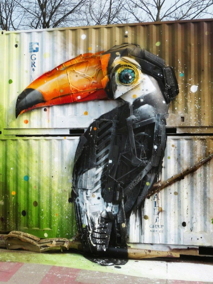 Big Trash Animals: The Street Art Of Bordalo II Using Waste Materials To Address The Environmental Problems