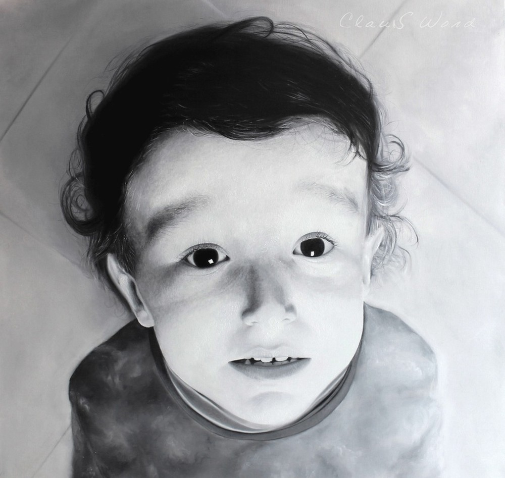 Claus Word Oil Paintings Realistic_Save Me