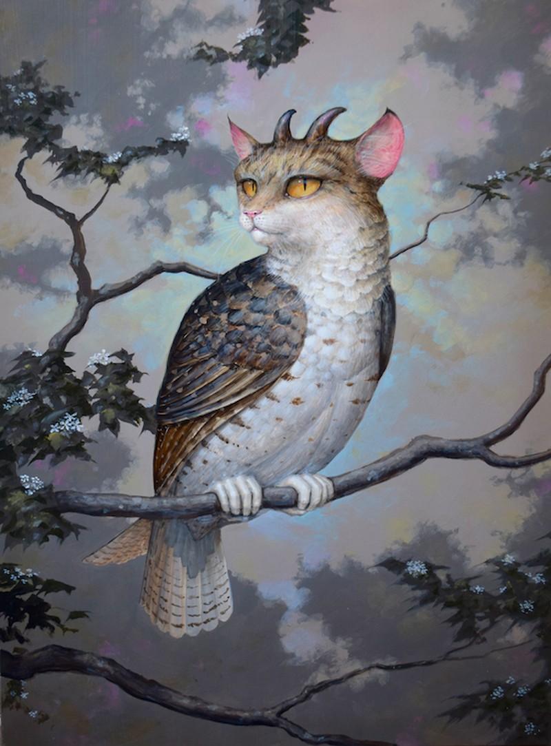 Daniel Merriam-Water-Color-Painting_Bird-of-Prey