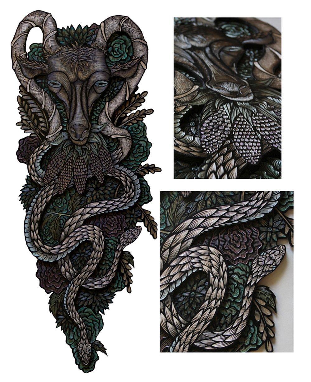 Dennis McNett - Wood Carvings - Harvest Deity