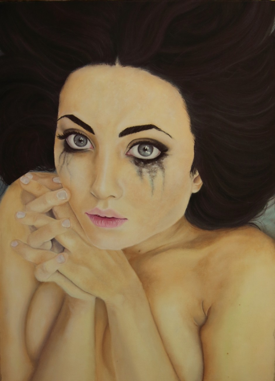 Donatella Marcatajo Paintings - Am I Good Enough For You