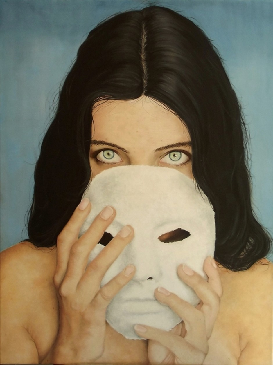 Donatella Marcatajo Paintings - Beneath A Mask, Hide Your Scars