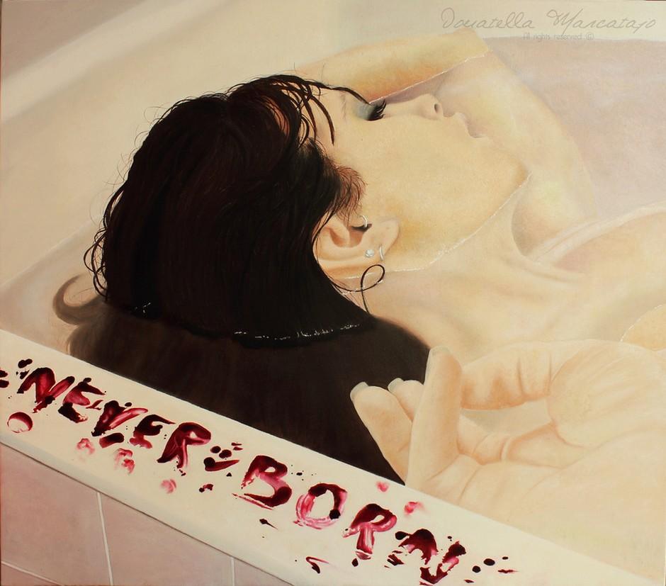 Donatella Marcatajo Paintings - Never Born
