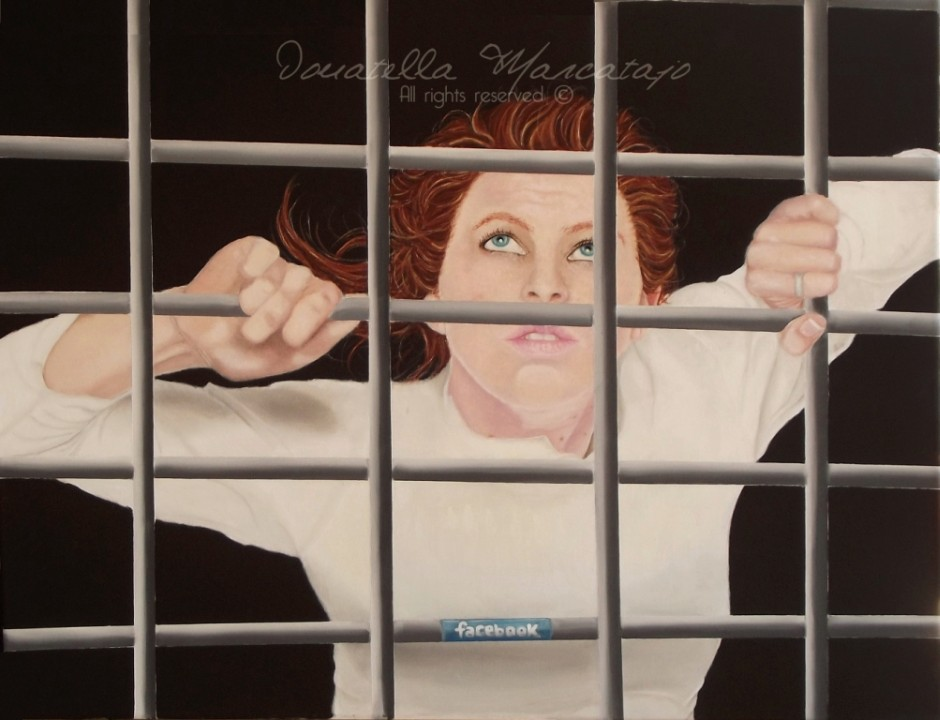 Donatella Marcatajo Paintings - Virtual Cage