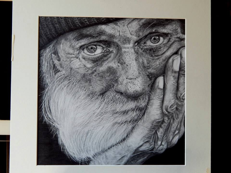 Keith More hyperrealistic drawings_Lived in