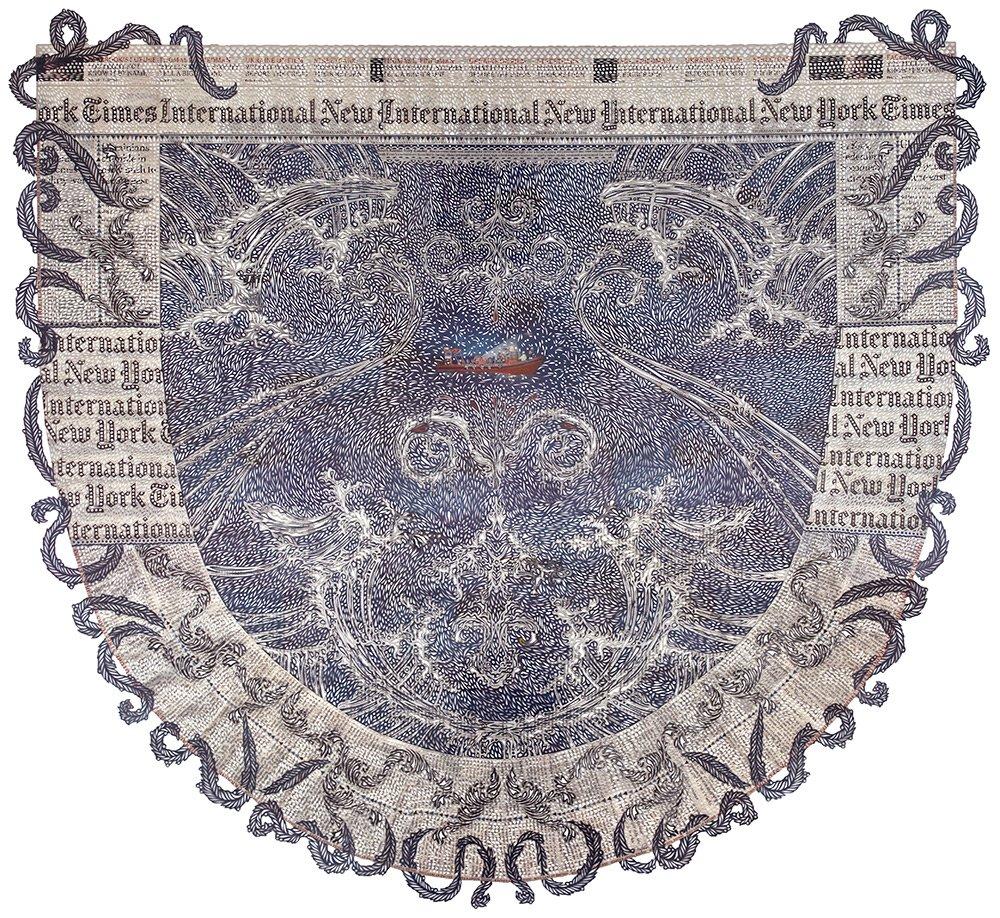 Myriam Dion - cut newspaper pattern 9134