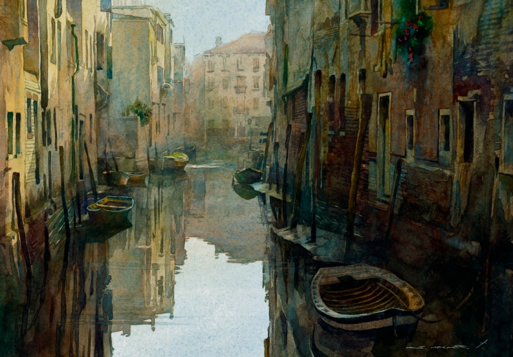 Stan Miller - Paintings Calm Water - Venice