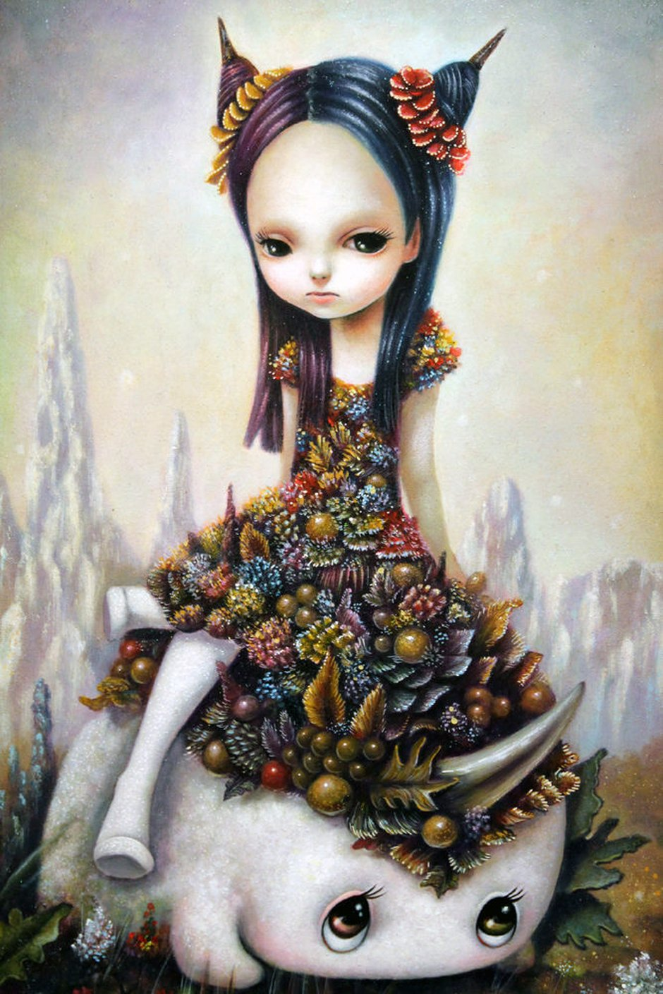 Yosuke ueno the surreal whimsical yet beautiful for Beautiful drawings and paintings