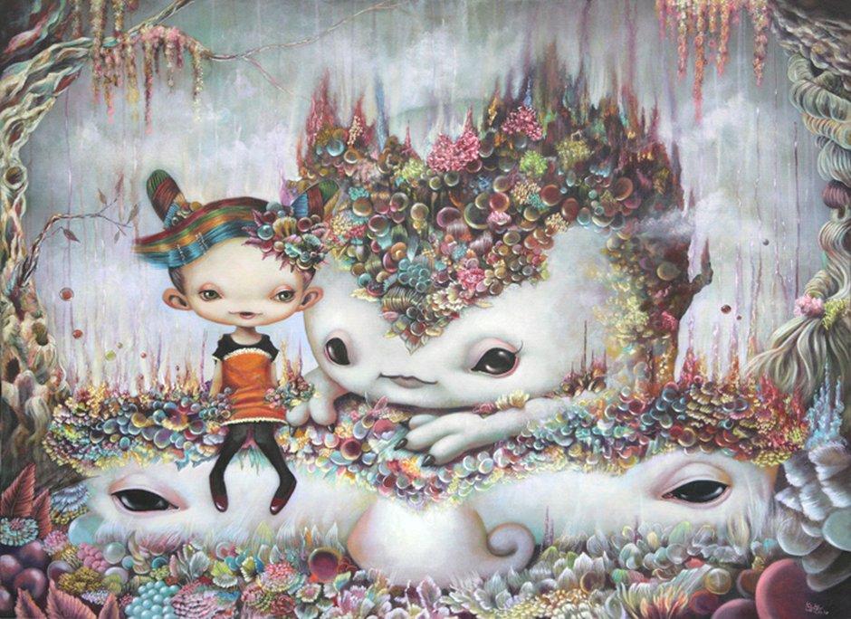 Yosuke Ueno Painting - Forestia