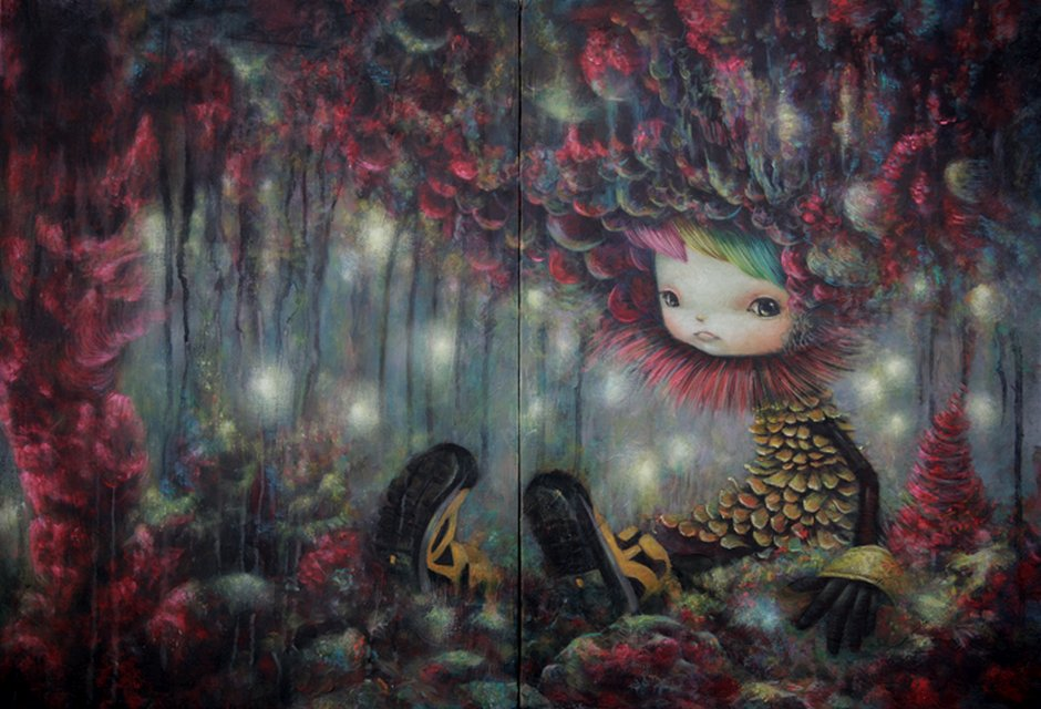 Yosuke Ueno Painting - I become Forest