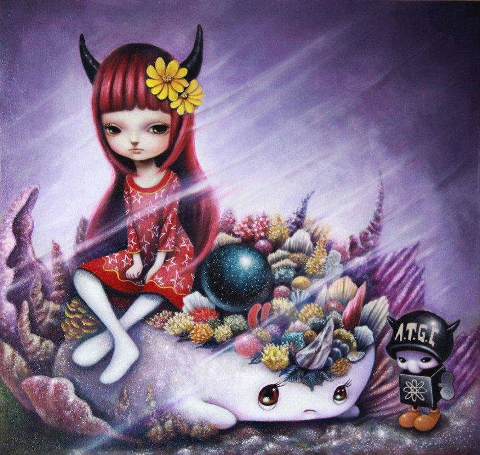 Yosuke Ueno Painting - Nocturne