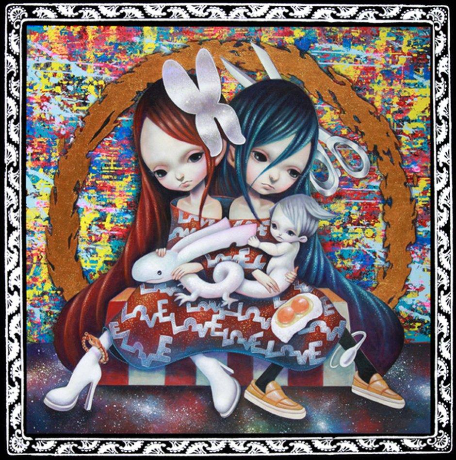 Yosuke Ueno Painting -one_Scissors-Butterfly