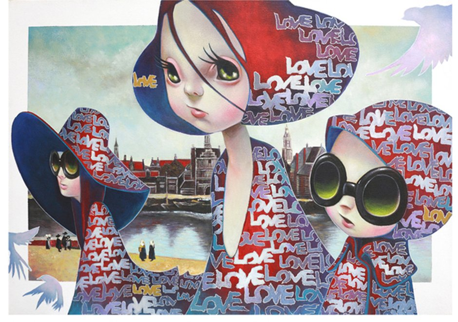 Yosuke Ueno Painting - walkindelft