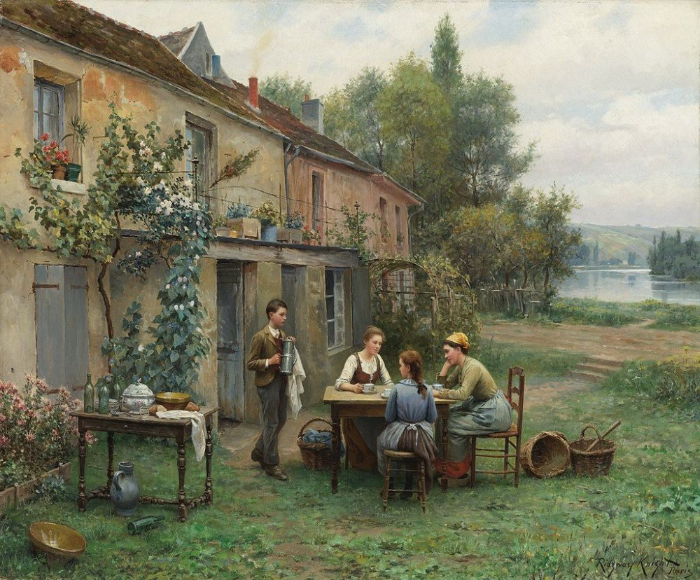 Daniel_Ridgway_Knight_Painting_Coffee_in_the_garden