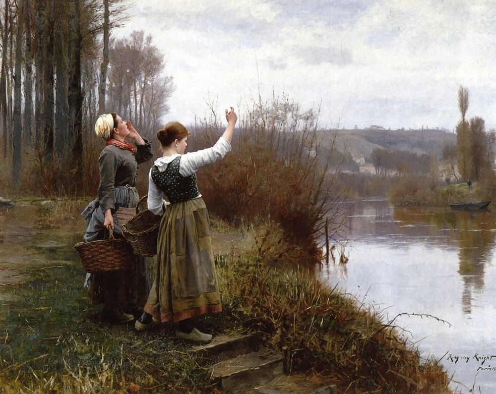 Daniel_Ridgway_Knight_Painting_Hailing The Ferry