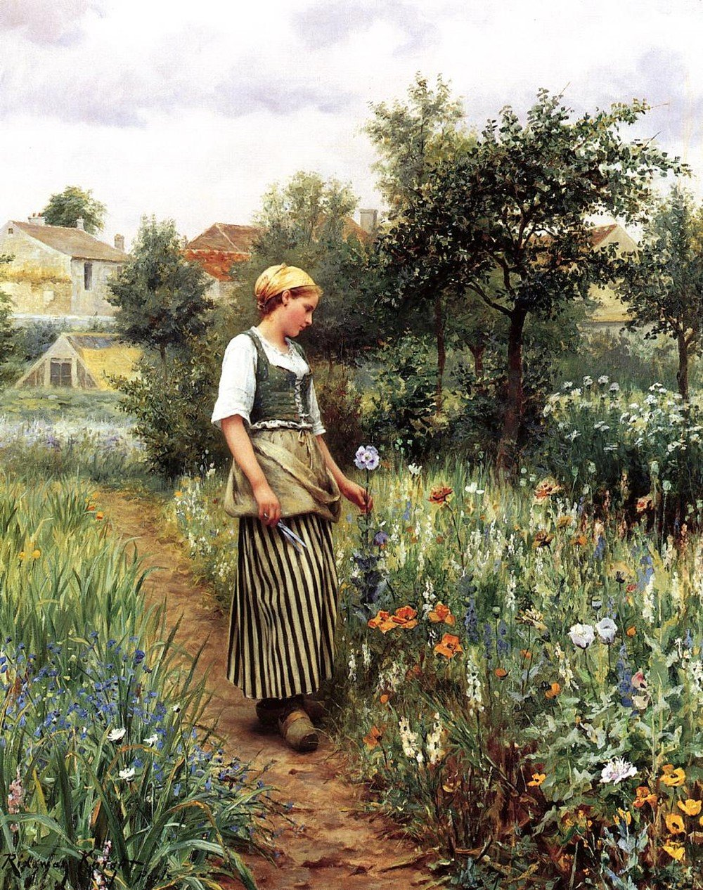 Daniel_Ridgway_Knight_Painting_In the garden