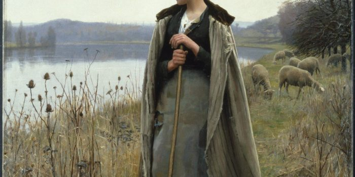 Daniel Ridgway Knight Painting The Shepherdess Of Rolleboise