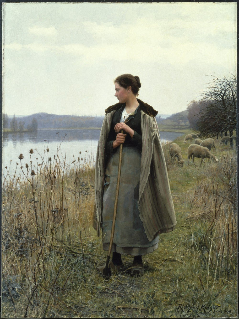 Daniel_Ridgway_Knight_Painting_The Shepherdess of Rolleboise