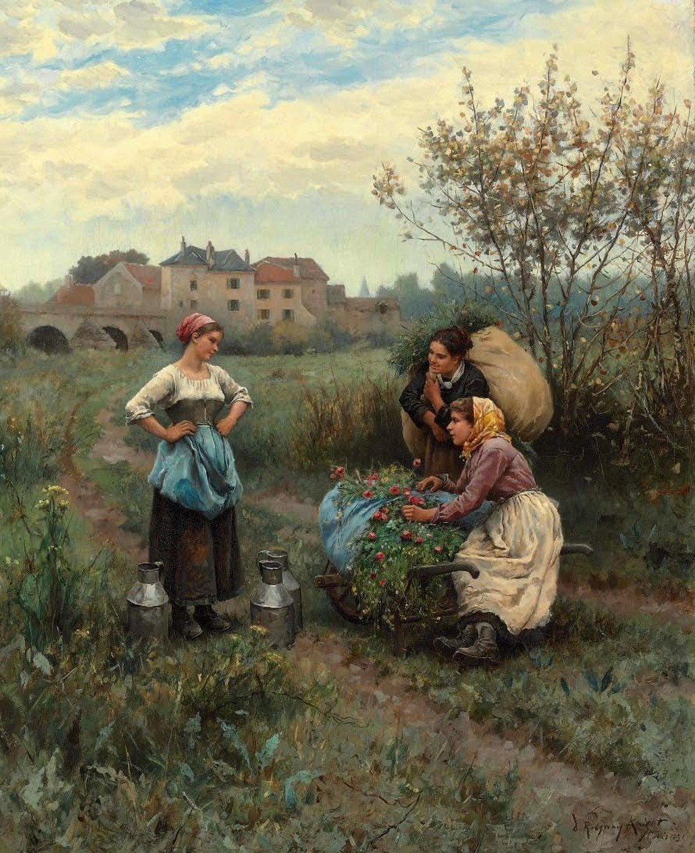 Three Women in a Landscape {{technique|oil|canvas}}{{size|cm|66|53.3}}